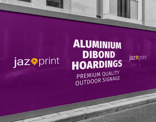 metal dibond building site hoarding printing