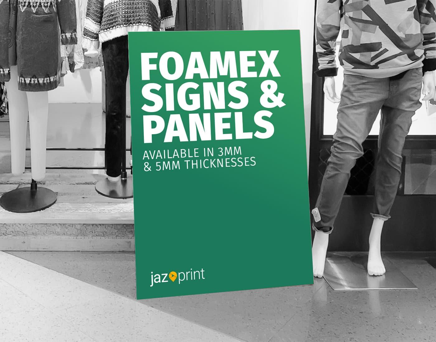 foamex sign printing