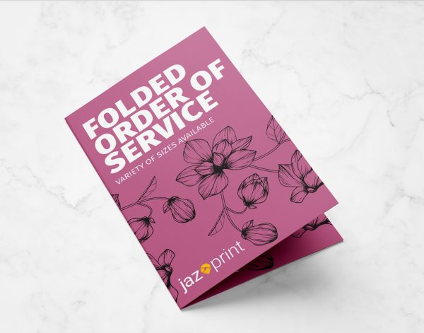 folded order of service printing