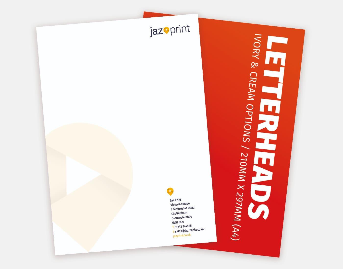 letterhead printing cheltenham and gloucester