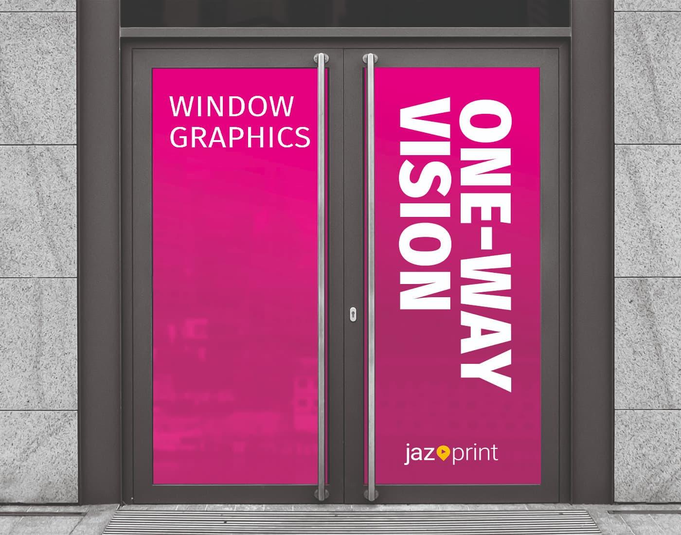 one way vision window printing