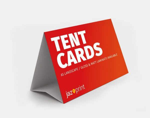 a5 landscape tent card printing