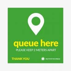 queue-here-stickers-green